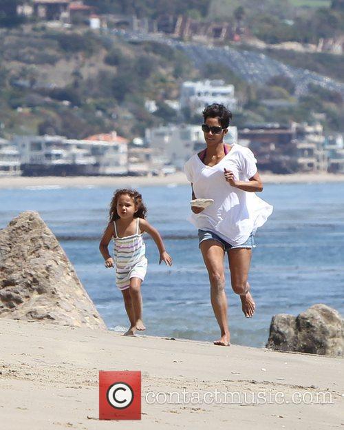 Halle Berry and Malibu Beach 1