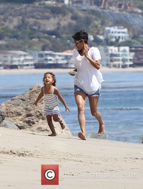 Halle Berry and Malibu Beach 8
