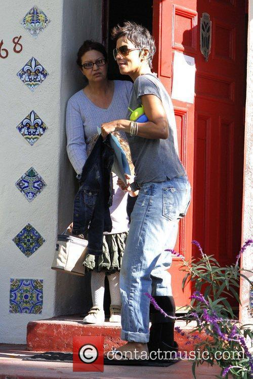 Halle Berry  picking up her daughter Nahla...