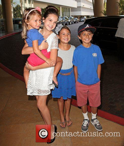 Baliee Madison (2nd L) and fans Hallmark Channel...