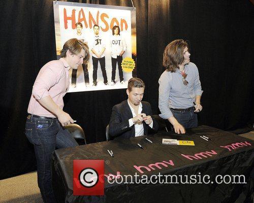Taylor Hanson, Isaac Hanson, and Zac Hanson...