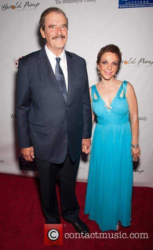 Vincente Fox and Guest 12th Annual Harold Pump...