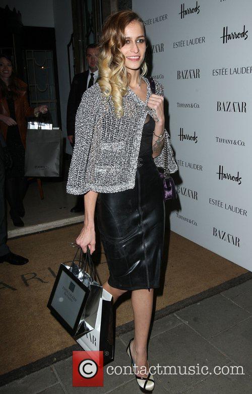 Alice Dellal departing the Harper's Bazaar Woman of...