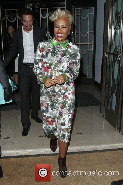 Emeli Sande departing the Harper's Bazaar Woman of...