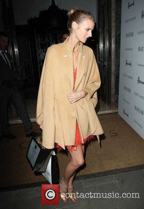 Jacquetta Wheeler   departing the Harper's Bazaar...