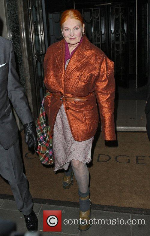 Vivienne Westwood departing the Harper's Bazaar Woman of...