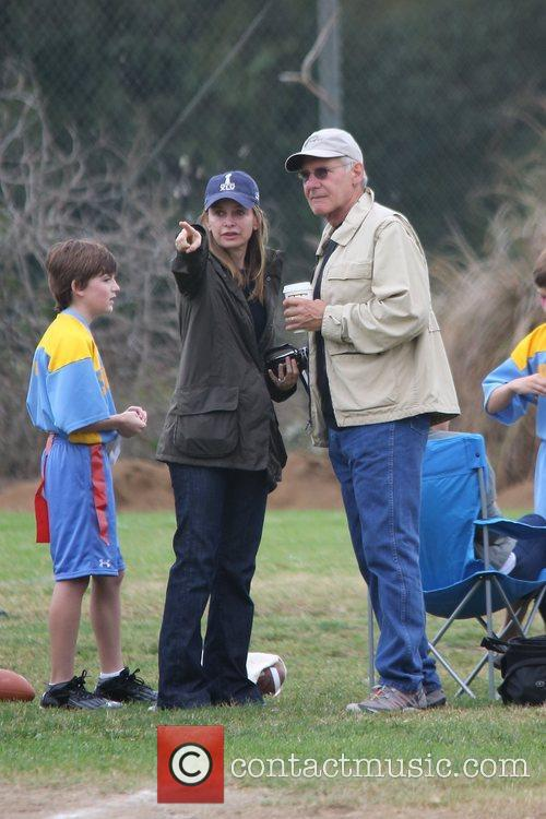 Harrison Ford, Calista Flockhart and Brentwood 6