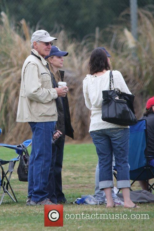 Harrison Ford, Calista Flockhart and Brentwood 9