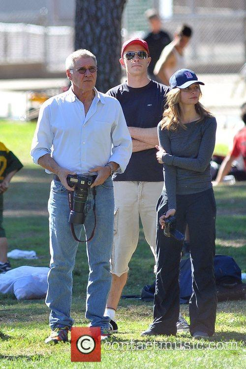 Harrison Ford and Calista Flockhart enjoy the day...