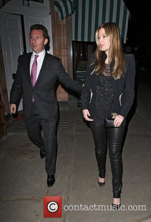 Nick Candy and Holly Valance leaving Harry's Bar...