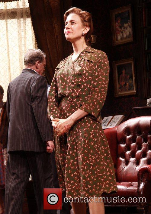 Jessica Hecht  Opening night curtain call for...