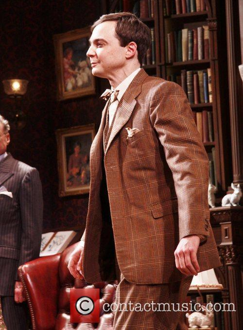 Jim Parsons Opening night curtain call for the...