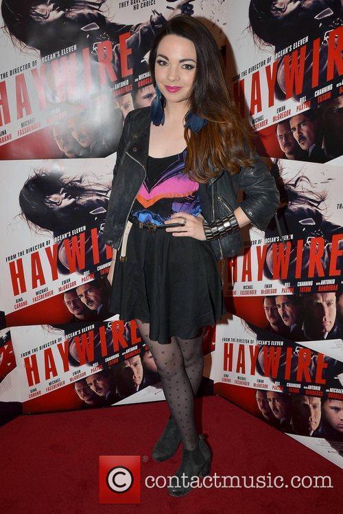 Katie Van Buren Irish Premiere of 'Haywire' at...