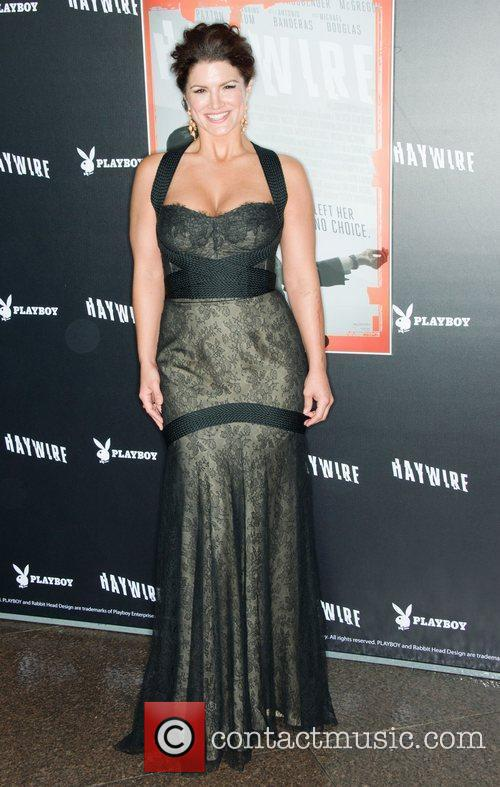 Gina Carano 'Haywire' Los Angeles premiere at the...