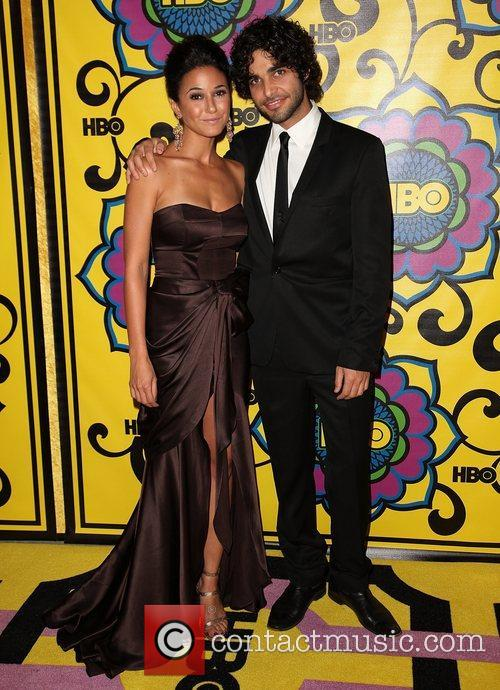 Emmanuelle Chriqui and guest HBO's Annual Emmy Awards...