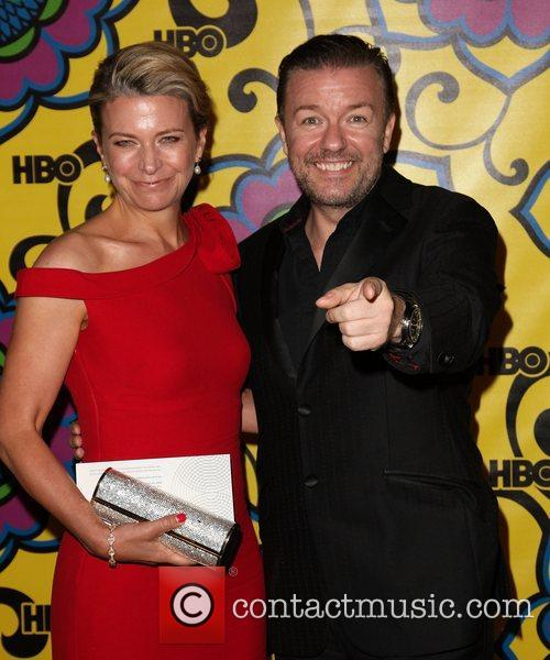 Jane Fallon and Ricky Gervais HBO's Annual Emmy...