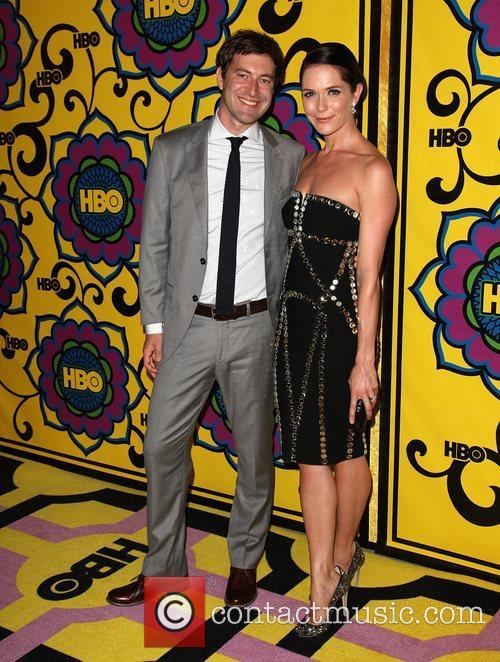Mark Duplass and Katie Aselton HBO's Annual Emmy...