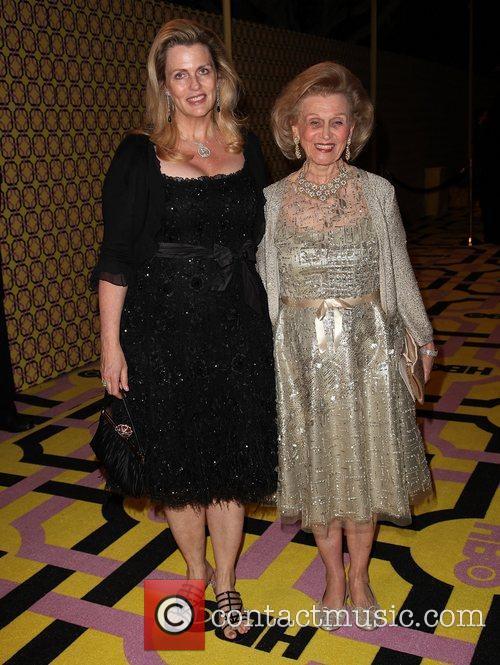 Nancy Davis and Barbara Davis HBO's Annual Emmy...