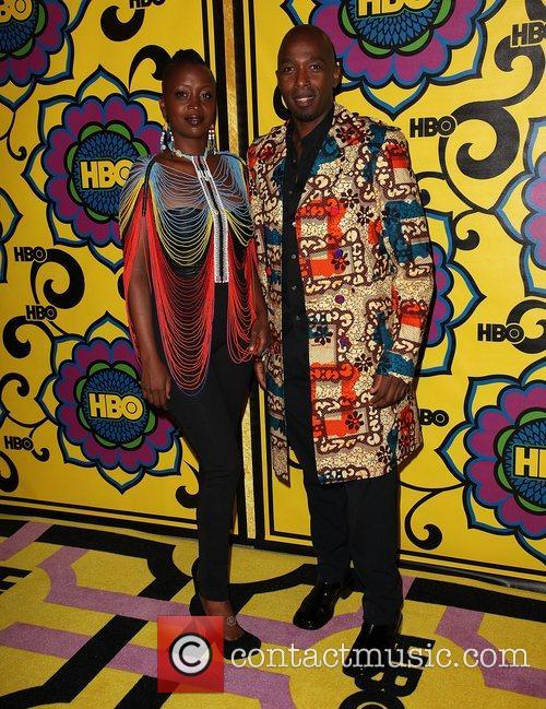 Ntare Guma Mbaho Mwine (R) and guest...