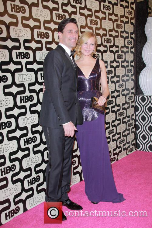Jon Hamm, Jennifer Westfeldt and Beverly Hilton Hotel 5
