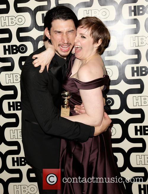 Adam with his girl's co-star Lena Durham