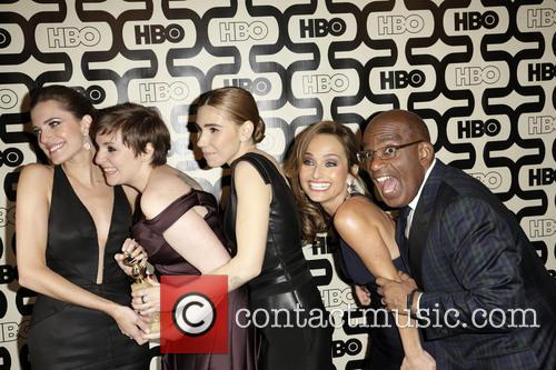 Allison Williams, Lena Dunham, Zosia Mamet and Beverly Hilton Hotel 2