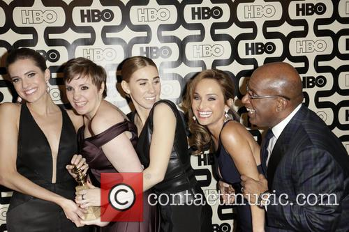 Allison Williams, Lena Dunham, Zosia Mamet and Beverly Hilton Hotel 1