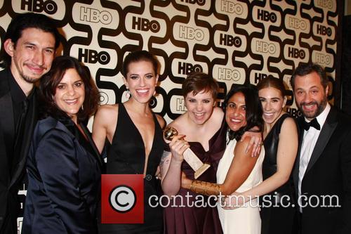 Allison Williams, Lena Dunham, Zosia Mamet, Producers, Beverly Hilton Hotel