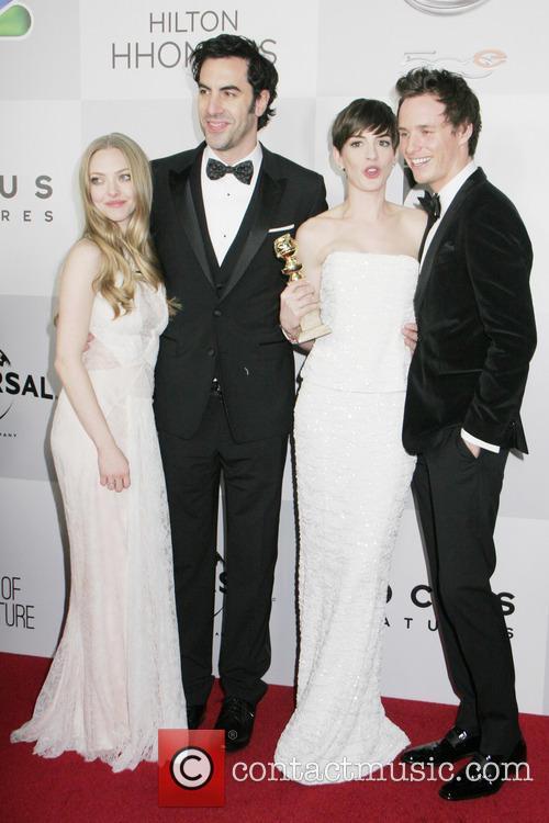 Amanda Seyfried, Sacha Baron Cohen, Anne Hathaway, Eddy Redmayne and Beverly Hilton Hotel 2