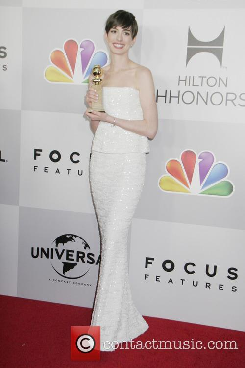 Anne Hathaway and Beverly Hilton Hotel 6