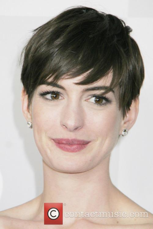 Anne Hathaway and Beverly Hilton Hotel 2