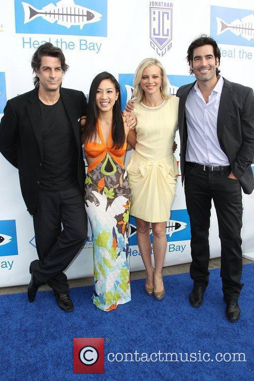 Michelle Kwan, Amy Smart and Carter Oosterhouse