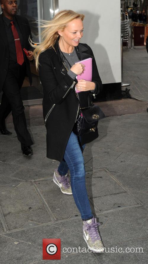 Emma Bunton leaving the Heart FM studios
