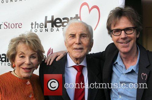Anne Douglas, Dana Carvey and Kirk Douglas 2