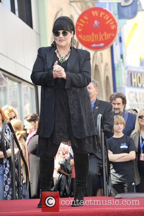 Ann Wilson at the presentation to rock band...