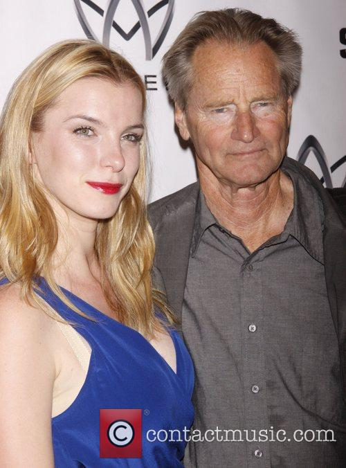 Betty Gilpin and Sam Shepard Opening night after...