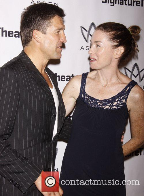 Jonathan Cake and Julianne Nicholson Opening night after...