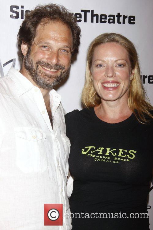 Kurt Deutsch and Sherie Rene Scott Opening night...