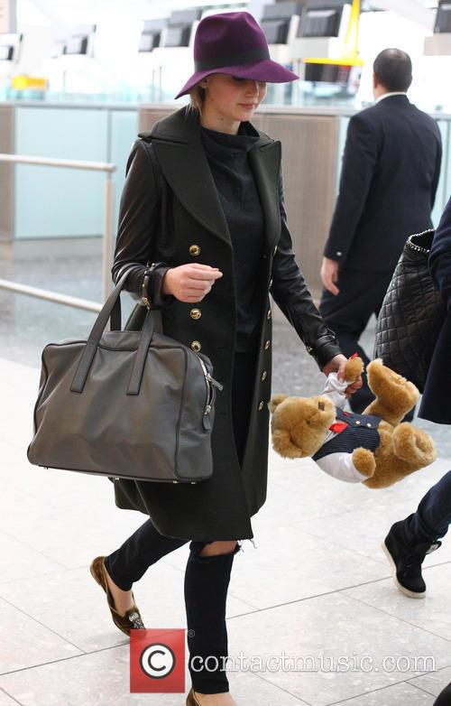 Jennifer Lawrence Celebrities at Heathrow Airport  Featuring:...