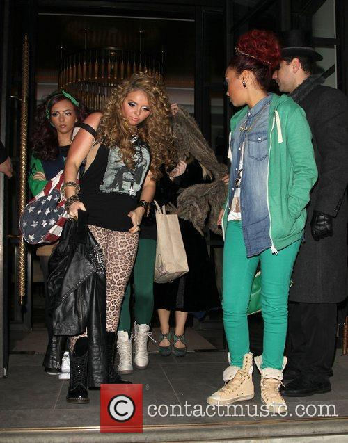 Little Mix on the way to Heaven night...
