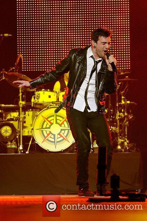 Hedley performing at The Air Canada Centre during...