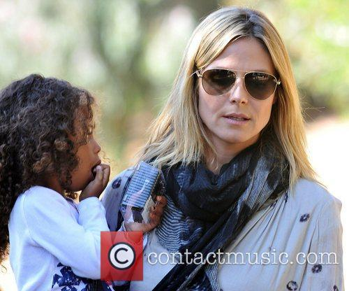 Heidi Klum out and about with her daughter...