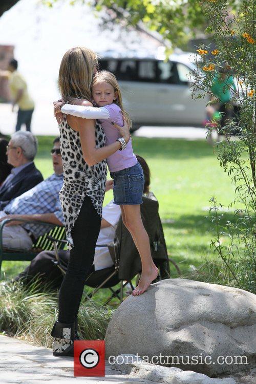 Heidi Klum and Leni Samuel share a tender...