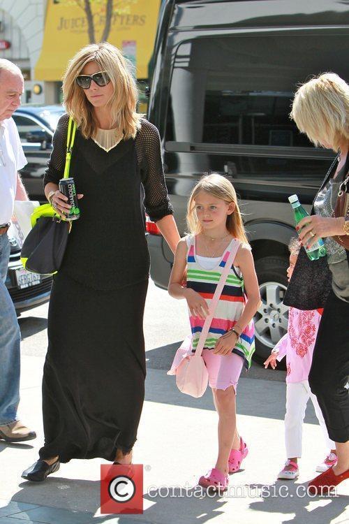 Heidi Klum , daughter Leni Samuel, and Erna...