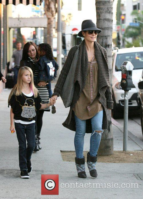 heidi klum at the grove with her 4183651