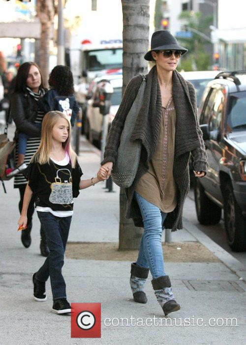 Heidi Klum at The Grove with her daughter...