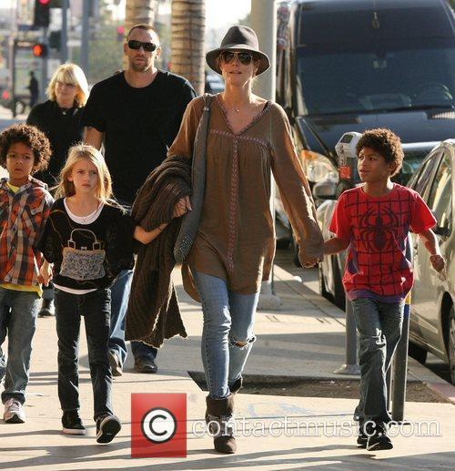 heidi klum seen with her children henry 4183646