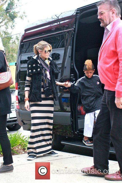 Heidi Klum and Henry Samuel are seen heading...