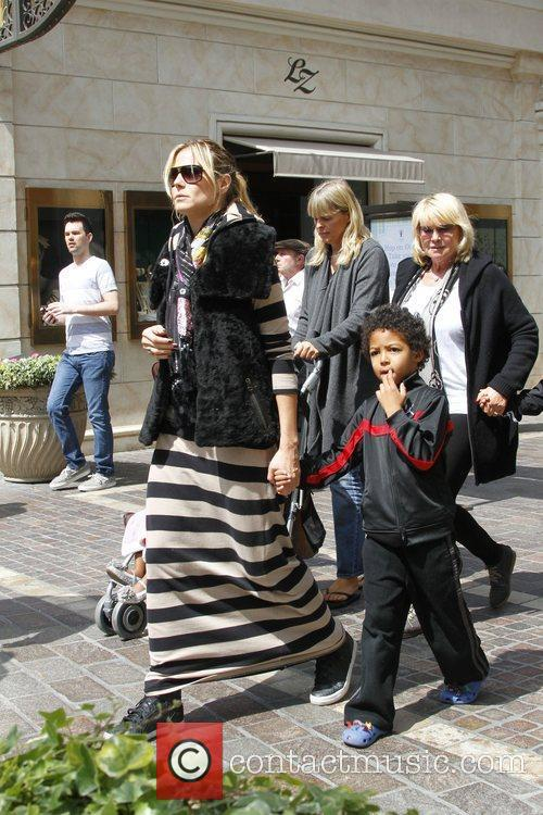 Heidi Klum and Johan Samuel spend the day...
