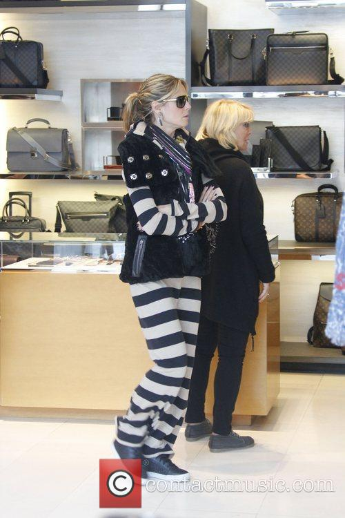 Heidi Klum is seen visits the Louis Vuitton...
